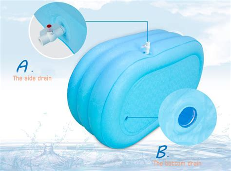 adult pvc folding portable bathtub inflatable bath tub air