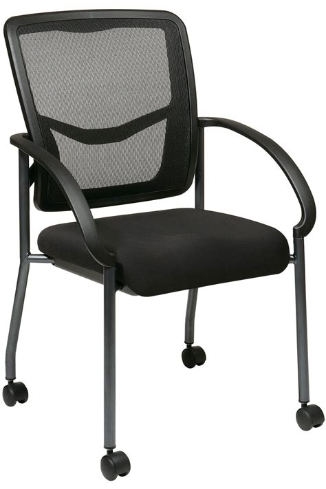 85640 office progrid visitors chair with arms and