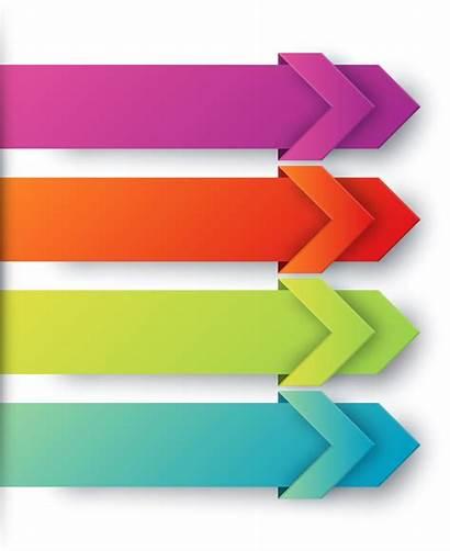 Clipart Infographics Colored Arrows Transparent Arrow Powerpoint