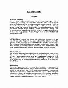 1 page executive summary template executive summary With academic case study template