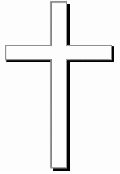 Christian Symbols Cross Clipart Outline Background