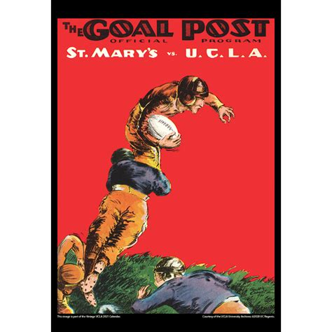2021 Vintage UCLA Bruins Football Calendar - Asgard Press