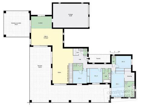 cuisine cellulaire maison de plain pied 4 dé du plan de maison de plain pied 4 faire construire sa maison