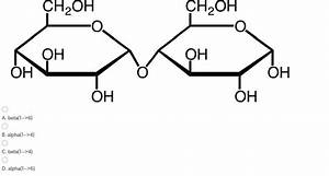Solved  The Structure Given Below Has What Type Of Glycosi
