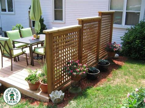 Backyard Privacy Screens Trellis - privacy screenondeck this is a 12x 16 foot deck with