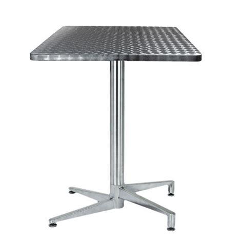 table de terrasse pliante table terrasse inox pliante tra 06c one mobilier