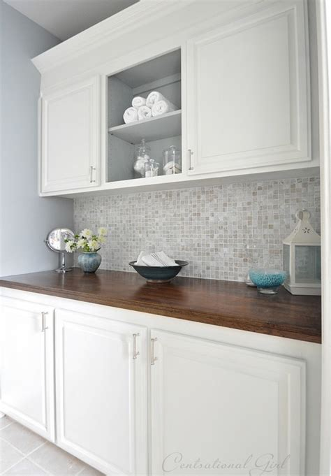 Painted Bathroom Cabinets  Centsational Style