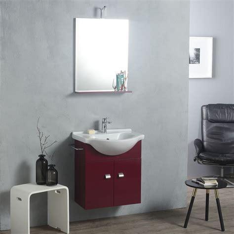 Mobile Da Bagno Colorato Per Piccoli Spazi Con Specchio