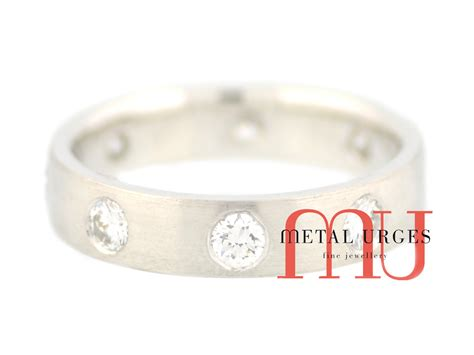 white gold and diamond wedding band custom made in