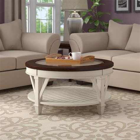 Bring cool accent to your living room with simple coastal coffee table these pictures of this page are about:coastal coffee tables. Demaree Coffee Table   Coffee table, White round coffee table, Coffee table wayfair