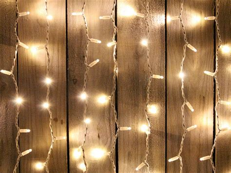 Curtain Fairy Lights White Cable