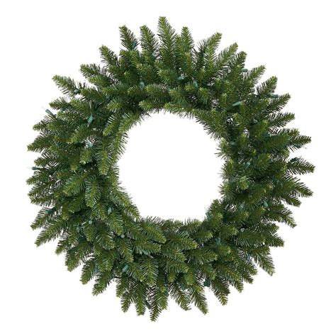 shop vickerman 30 in green camden fir artificial christmas wreath at lowes com