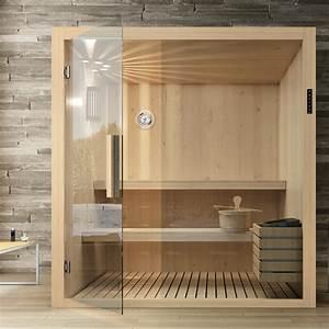 Sauna Mit Glasfront : bad wellness24 badezimmersauna kyra sauna mit glasfront 120 x 102 x 204 cm tanne ~ Whattoseeinmadrid.com Haus und Dekorationen