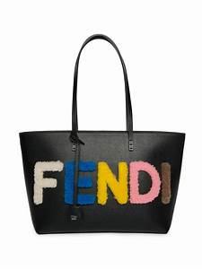 fendi logo small multicolor shearling saffiano leather With fendi letter bag