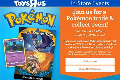 toysrus pokemon trade collect event february