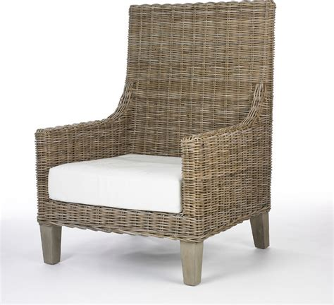 wicker chair with cushion contemporary armchairs and
