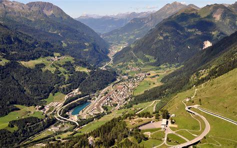 Alps, Switzerland, Landscape, Mountain, Road, Valley, Town ...