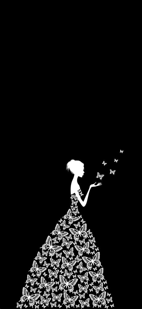 Black Wallpaper Hd For Iphone X by Butterfly Dress Iphone X Black Wallpaper Background
