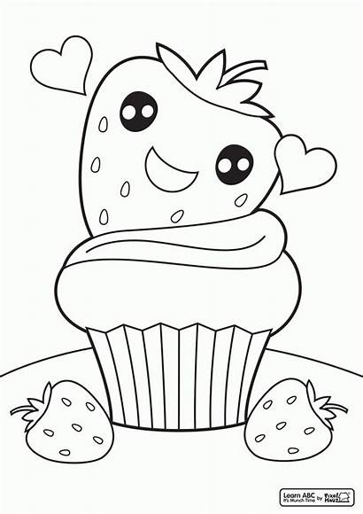 Coloring Pages Colouring Cupcake Printable Drawing Sheets