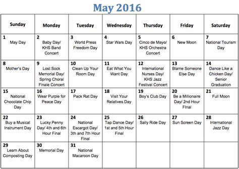 fun national holiday calendar kirkwood call