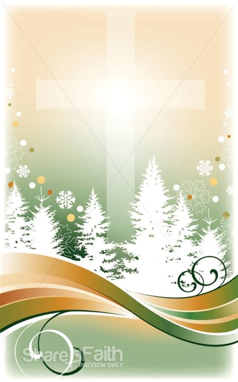winter trees bulletin cover christmas bulletins