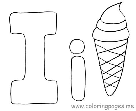 Letter I Coloring Page Draw