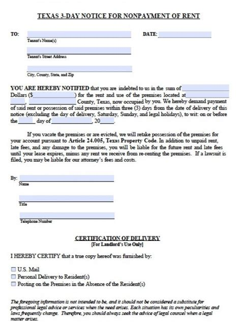 free 3 day notice form printable sle 3 day eviction notice form real estate