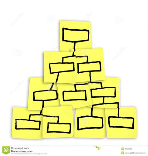 Chart Pyramid Drawn Sticky Notes Stock