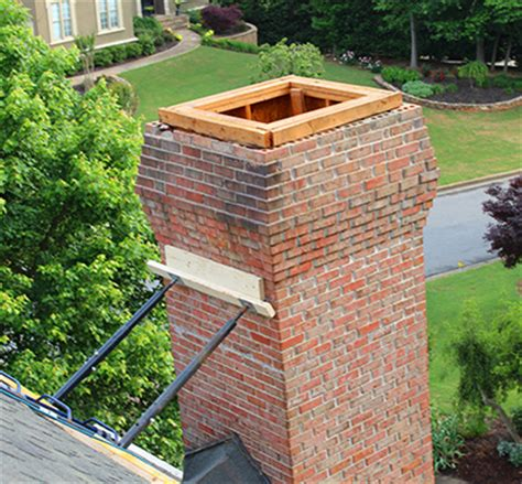 leaning chimney repair fix  leaning chimney