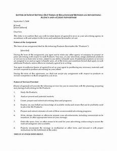 letter of intent to hire advertising agency legal forms With letter of intent to hire template