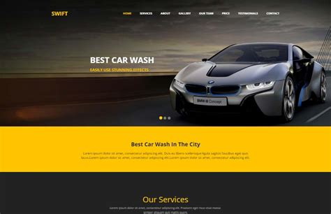 Automobile Website Design by Car Wash Html Website Template Free Webthemez