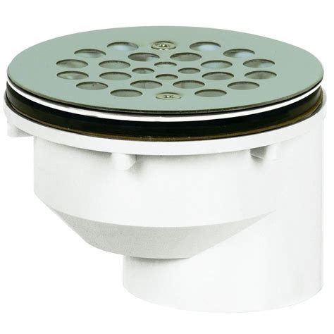Shower Drain Home Depot by 2 In Pvc Shower Drain 825 2pfs The Home Depot