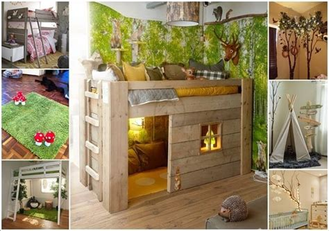 5 Creative Bedrooms With Themes by Creative Forest Themed Bedroom And Nursery Decor