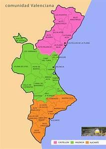 Mapa Comarcal De La Comunidad Valenciana