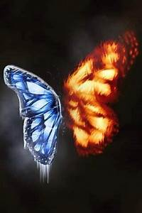Fire and ice, Ice and Butterflies on Pinterest