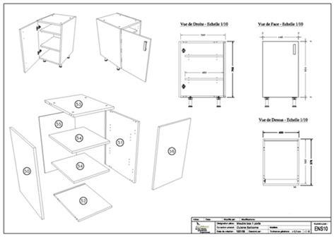 plan meuble cuisine plan meuble de cuisine idées de décoration intérieure