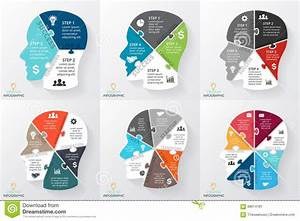 Vector Brain Puzzle Infographic  Template For Human Head