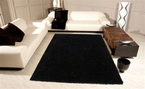tapis de salon noir idees de decoration interieure