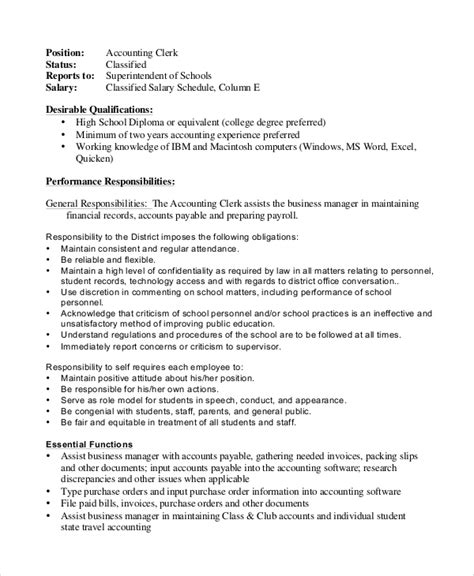 Payroll Accountant Description For Resume by Payroll Clerk Description Data Entry Clerk Resume Exle Best Data Entry Clerk Resume