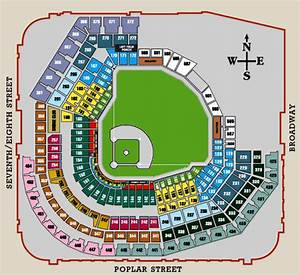 Seating Diagram For Busch Stadium  Iii