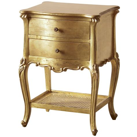 versailles gold drawer bedside table french bedroom company