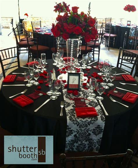 shutterbooth san diego wedding modern elegance red white
