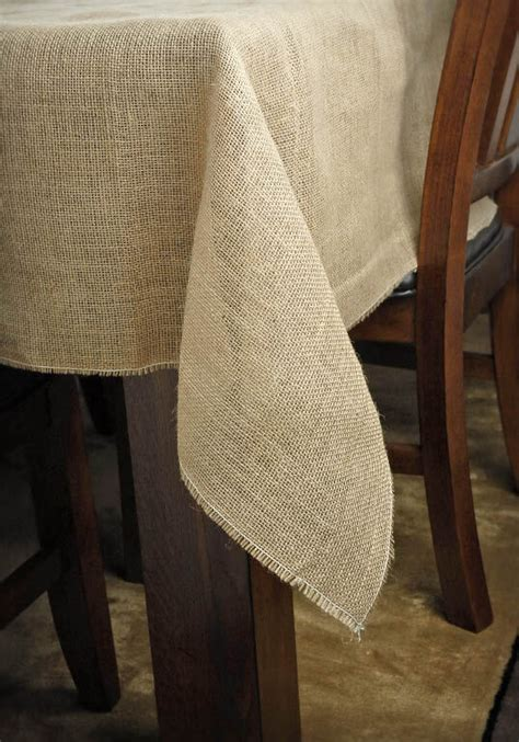 square burlap tablecloth