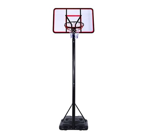 big portable basketball hoop system adjustable height