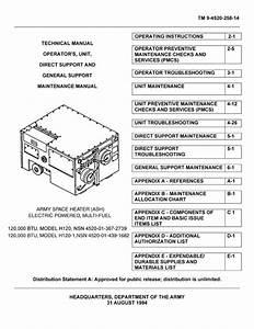 Engineered Air H120 Heater Operation  Maintenance Manual