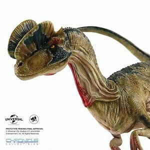 Jurassic Park - Dilophosaurus Statue by Chronicle ...  Dilophosaurus