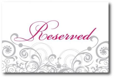 reserved sign weditorial a wedding and event planner s 187 reception