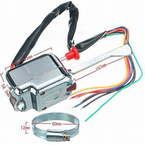 Chrome 12v Universal Street Hot Rod Turn Signal Switch For