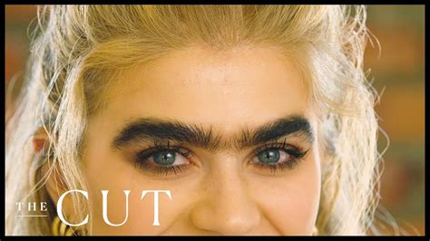 meet  greek cypriot model owning  unibrow named