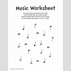 Music Notes Worksheets For Kids  Identify Music Notes Worksheet School Students Resources For
